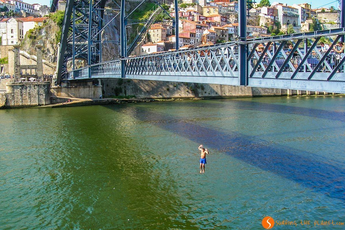 Salto desde Puente de Don Luis I, Oporto, Portugal | Qué ver en Oporto en 1 día