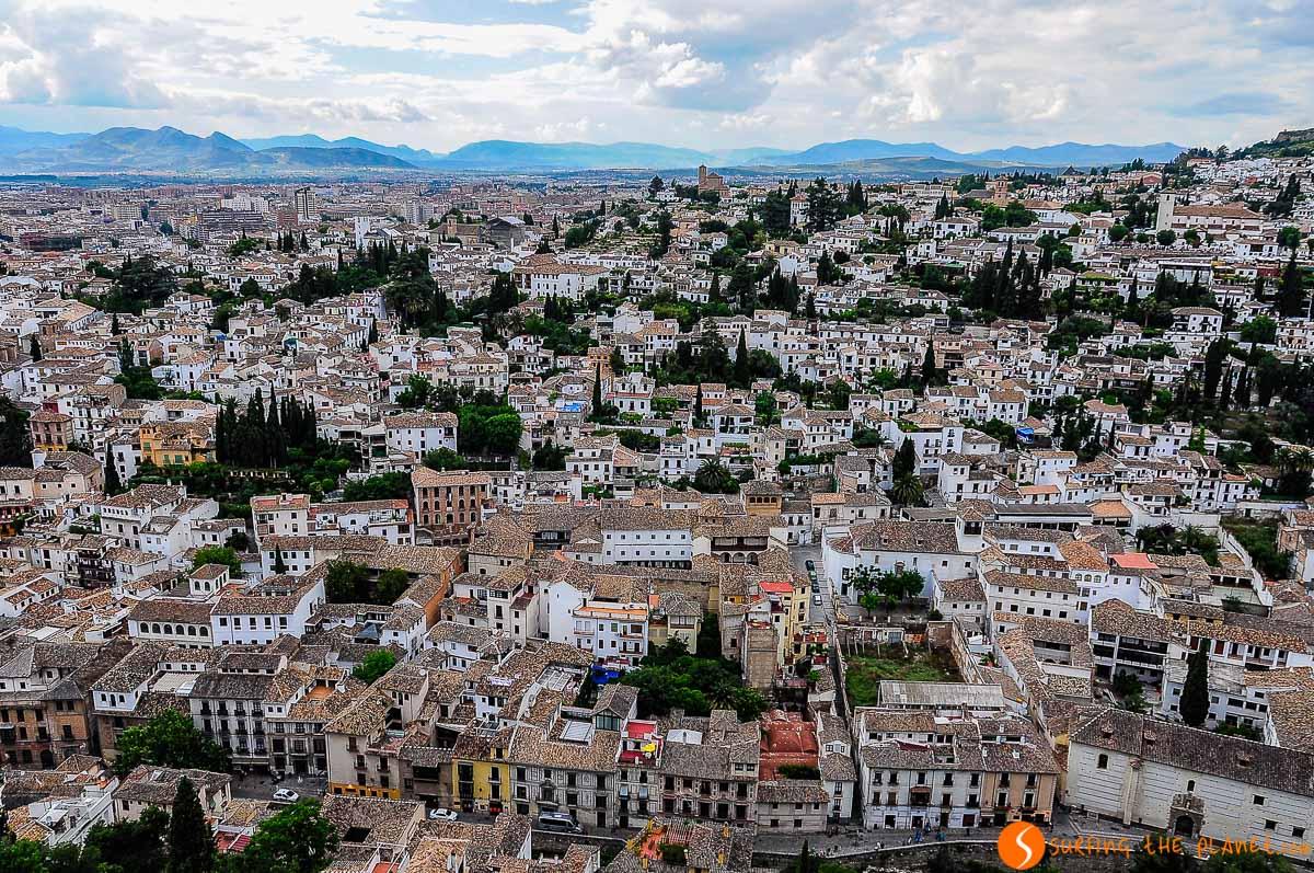 Vista aérea, Granada, España | 10 Cosas que ver y hacer en Granada en 2 días