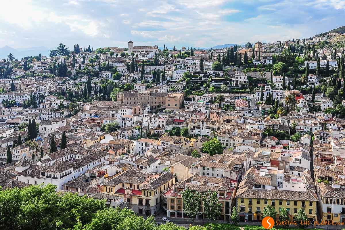 Vista de Albaicín desde arriba, Granada, España | Free tours de Granada