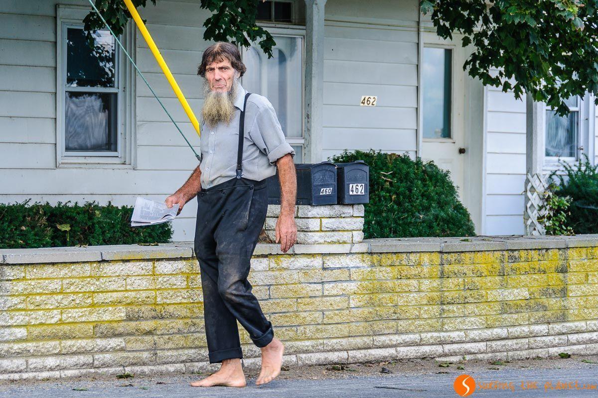 Hombre con barba, Comunidad Amish de Lancaster, Pennsylvania | Viaje de 15 días por la Costa Este de Estados Unidos