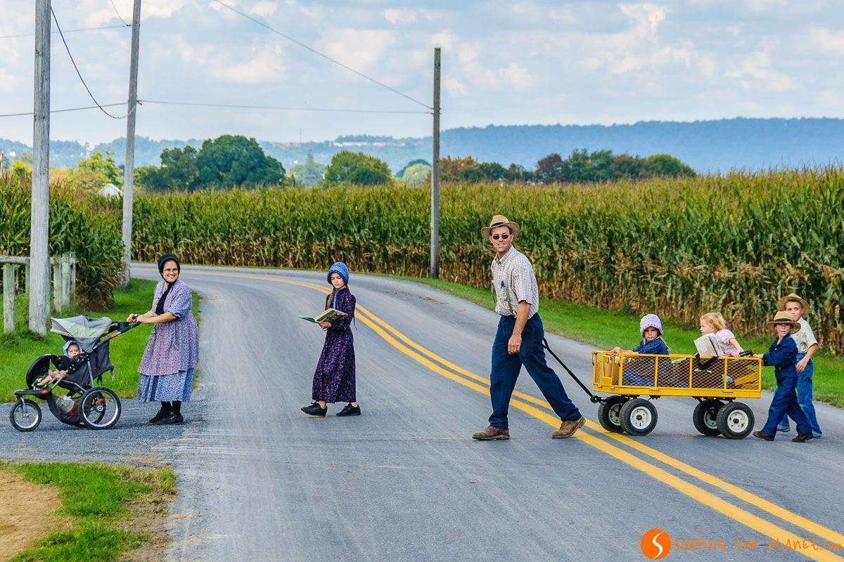 Familia numerosa, Condado de Amish de Lancaster, Pennsylvania, Estados Unidos