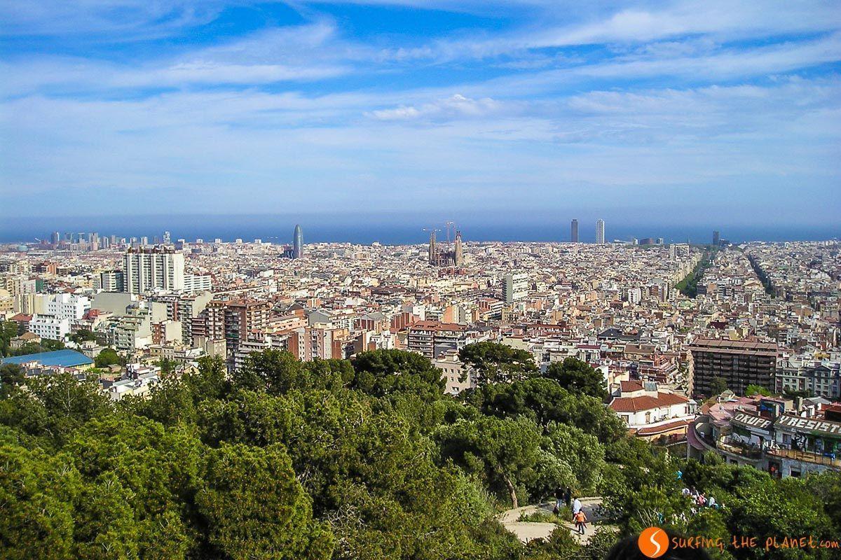 El mirador de la Cruz, Parque Güell, Barcelona, Cataluña, España | Los mejores miradores de Barcelona