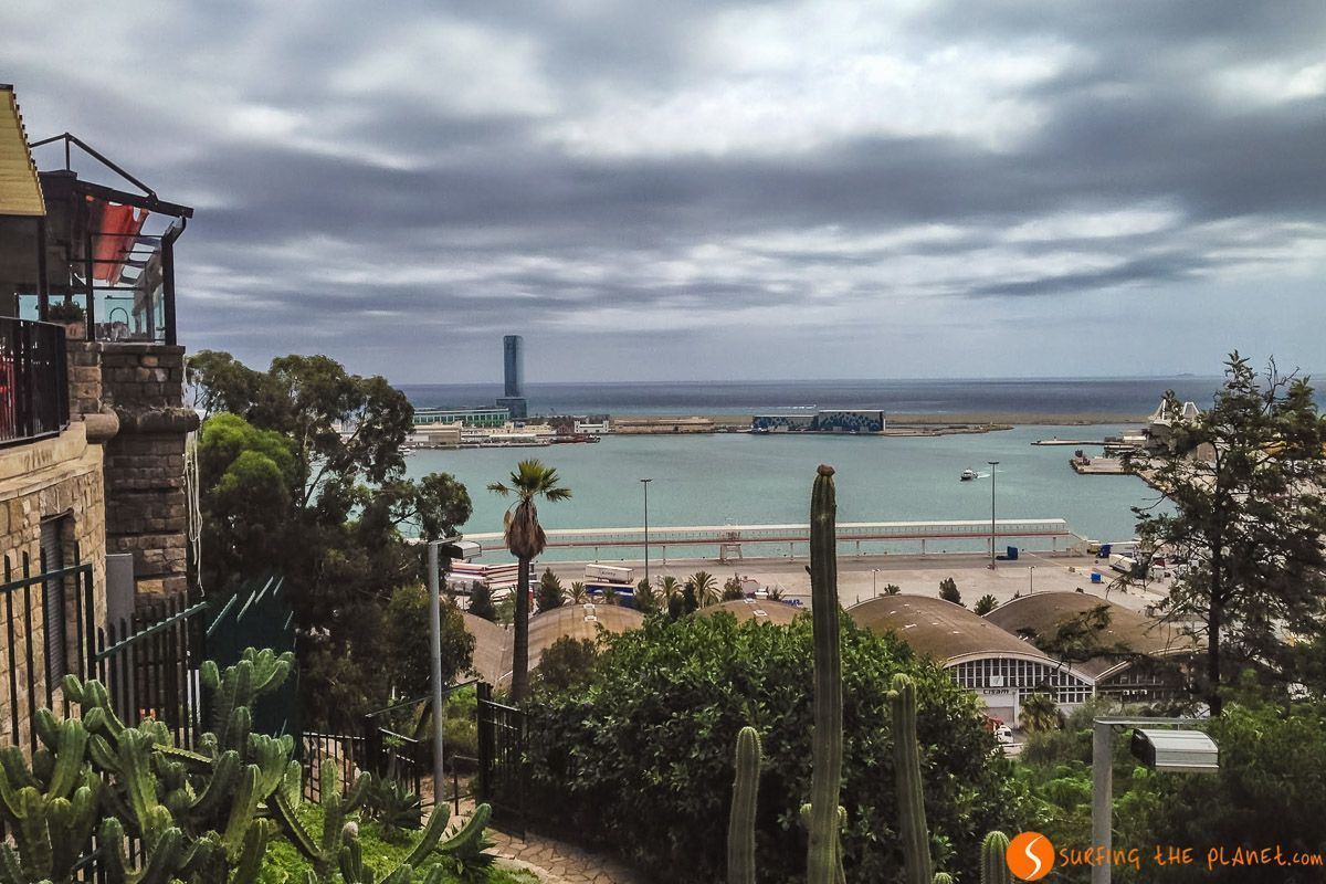 Vistas desde Jardines de Miramar, Cataluña, España