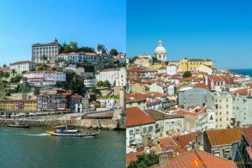 Viajar a Oporto o Lisboa