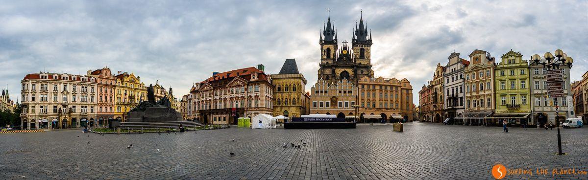 Vista panorámica, Plaza de Ciudad Vieja, Praga, República Checa | Plazas imperdibles que ver en Europa