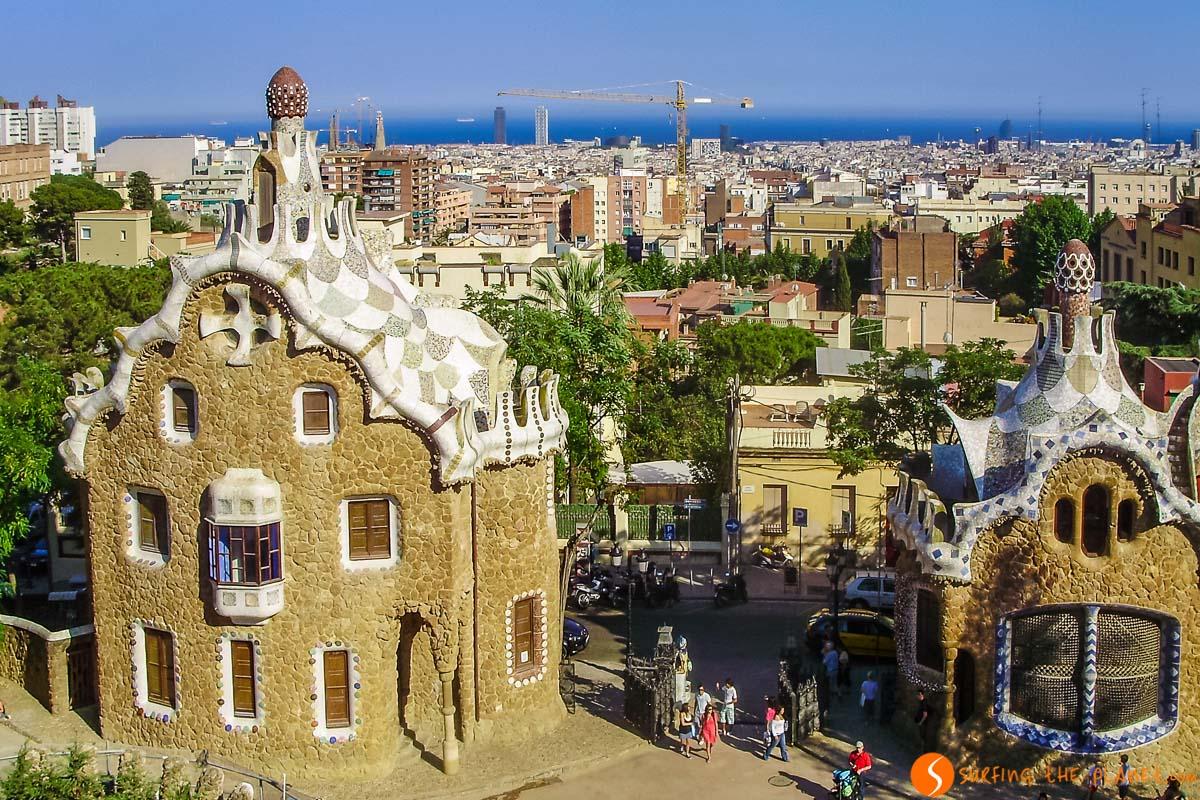 Vistas desde el Parque Güell, Barcelona, Cataluña, España