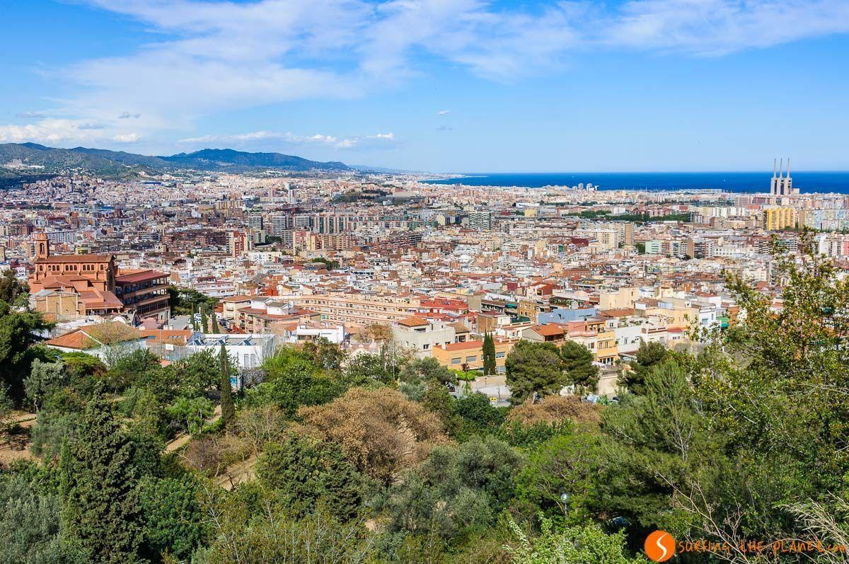 Vistas desde el Parque del Guinardó, Miradores de Barcelona, Cataluña, España | Las mejores vistas de Barcelona