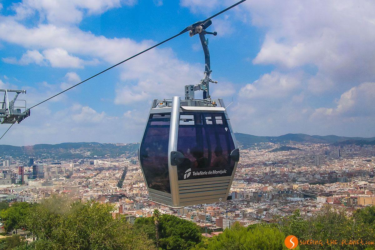 Teleférico de Montjuic, Barcelona, Cataluña, España