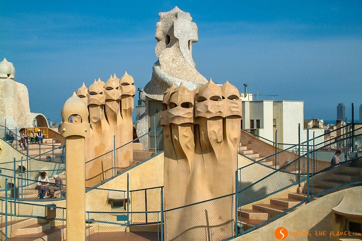Terrado de La Pedrera, Barcelona, Cataluña, España | Las 20 mejores vistas de Barcelona