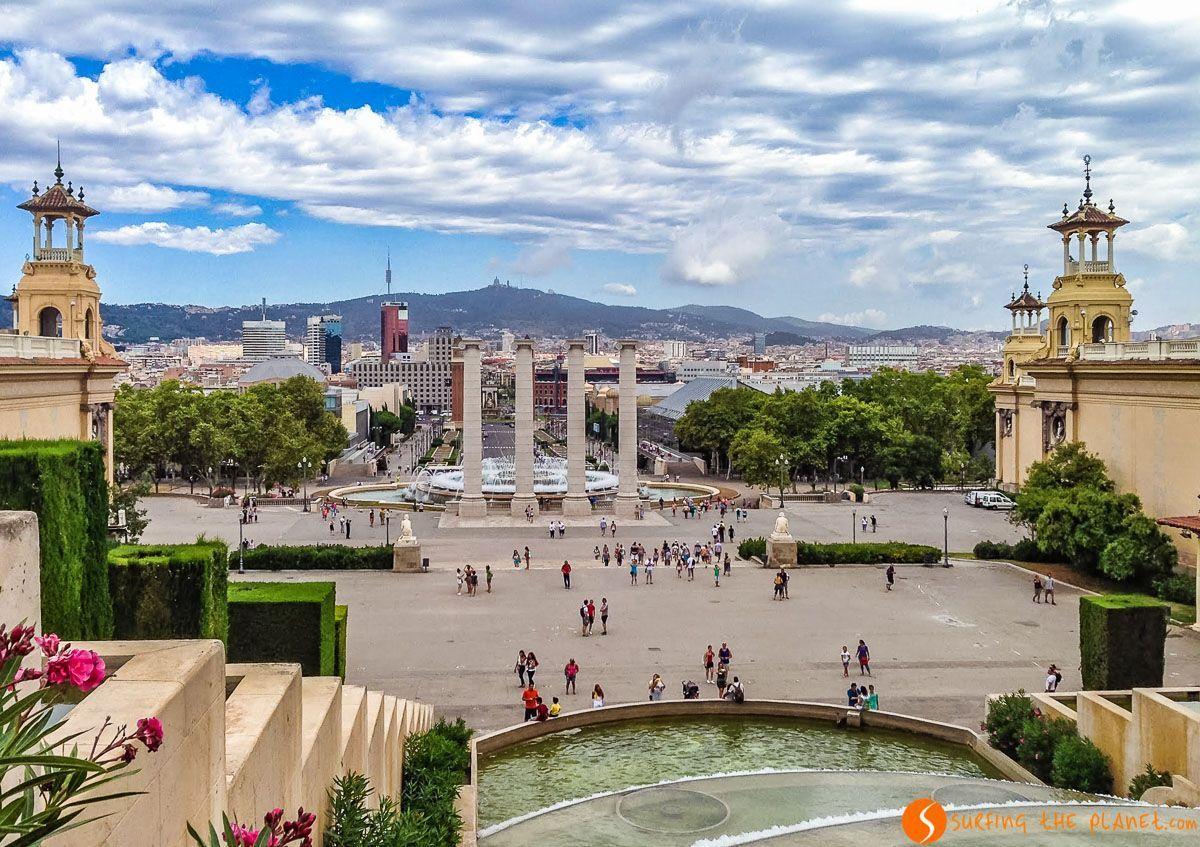 Vistas desde la Terraza del MNAC, Cataluña, España | Los 20 mejores miradores de Barcelona