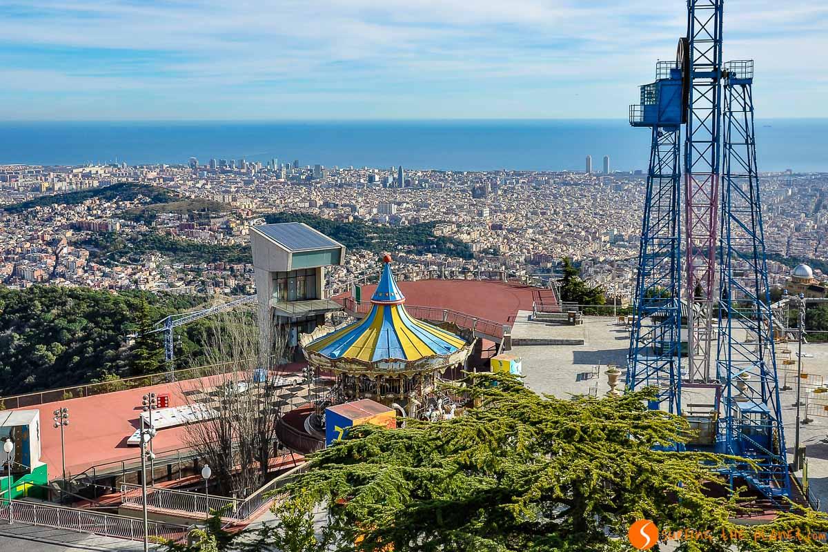 Vistas desde el Tibidabo, Barcelona, Cataluña, España