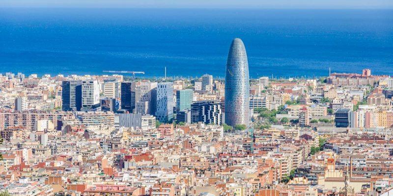 Vistas desde el Turó de Rovira, Miradores de Barcelona, Cataluña, España
