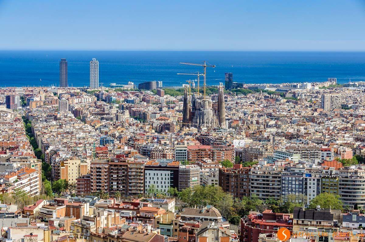 Vistas desde los Bunkers de Carmel, Miradores de Barcelona, Cataluña, España | Los mejores free tours en Europa