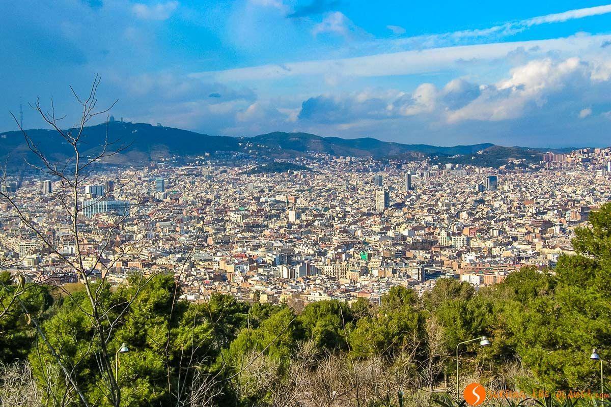 Vistas de la ciudad, Castillo de Montjuic, Barcelona, Cataluña, España