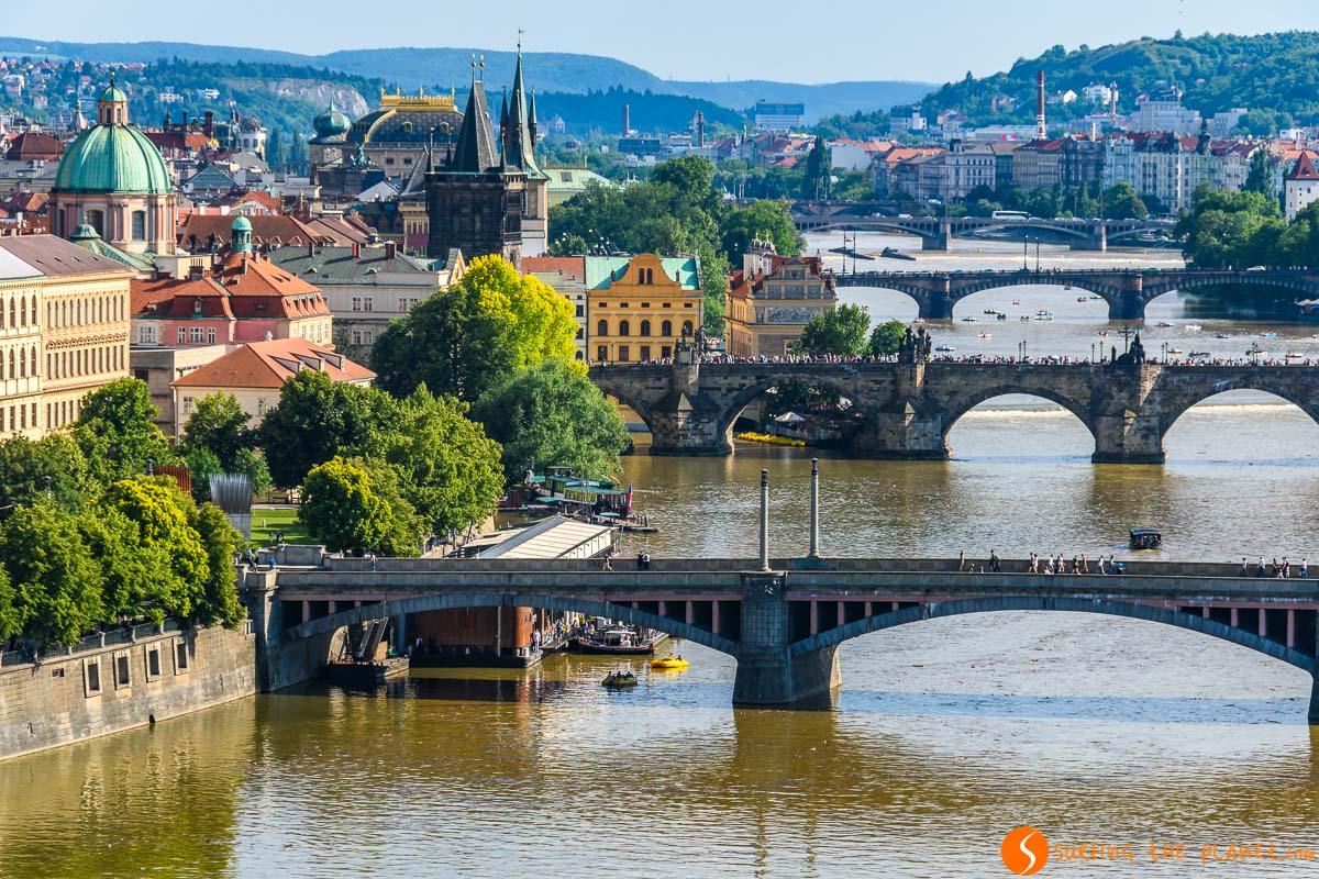 Vistas desde Letna, Praga, República Checa