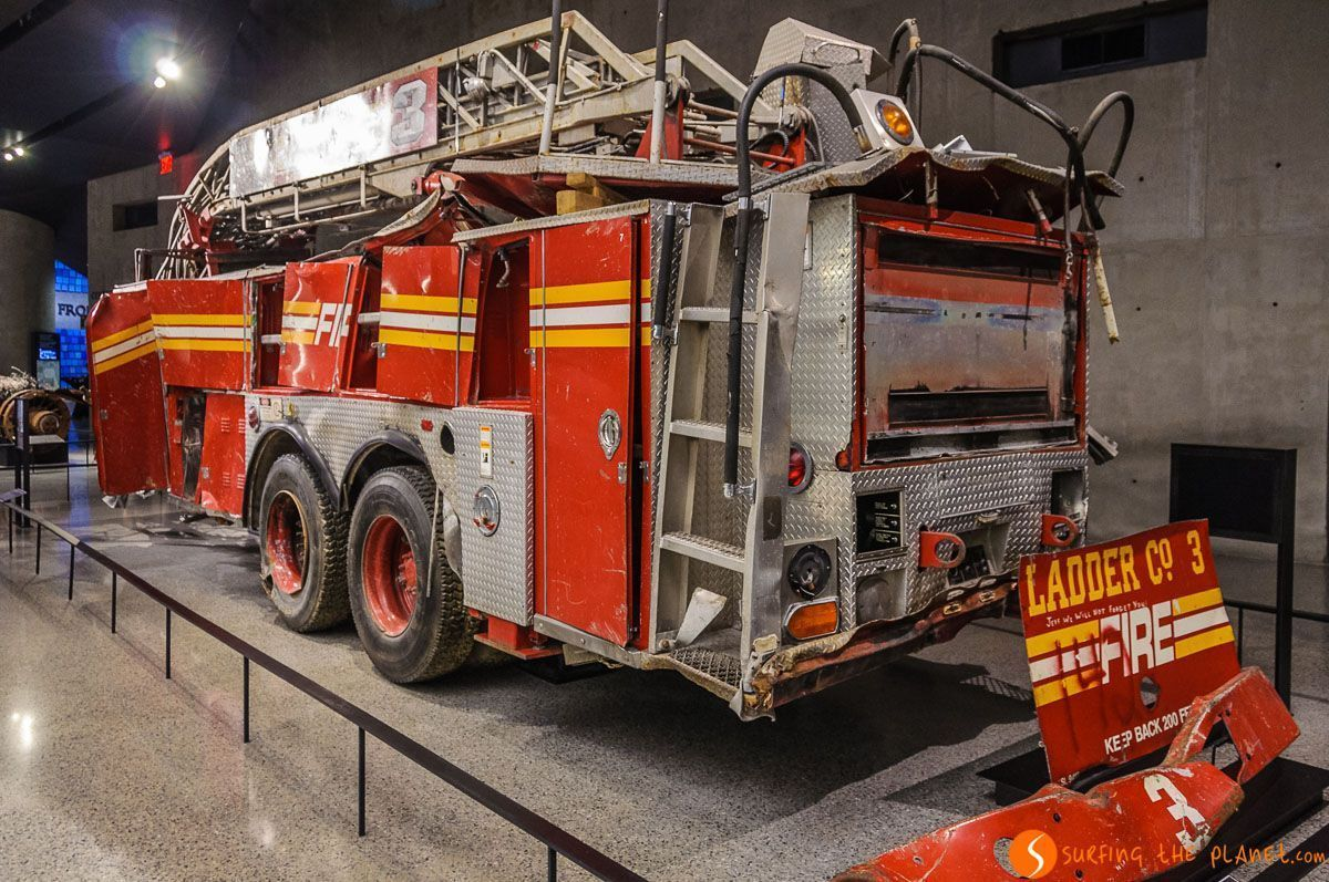 Coche de bomberos, Museo Memorial 11-S, Lower Manhattan, Nueva York