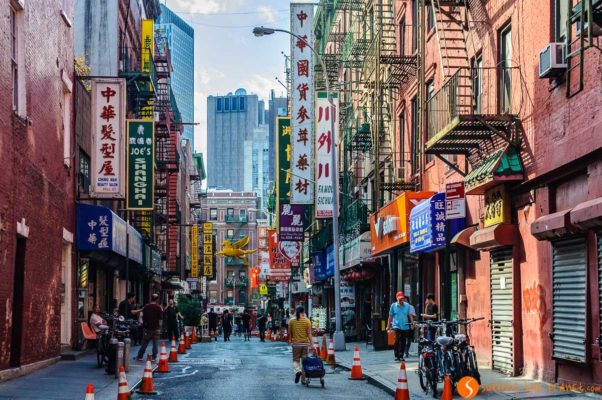 Colores del barrio, Chinatown, Nueva York, Estados Unidos