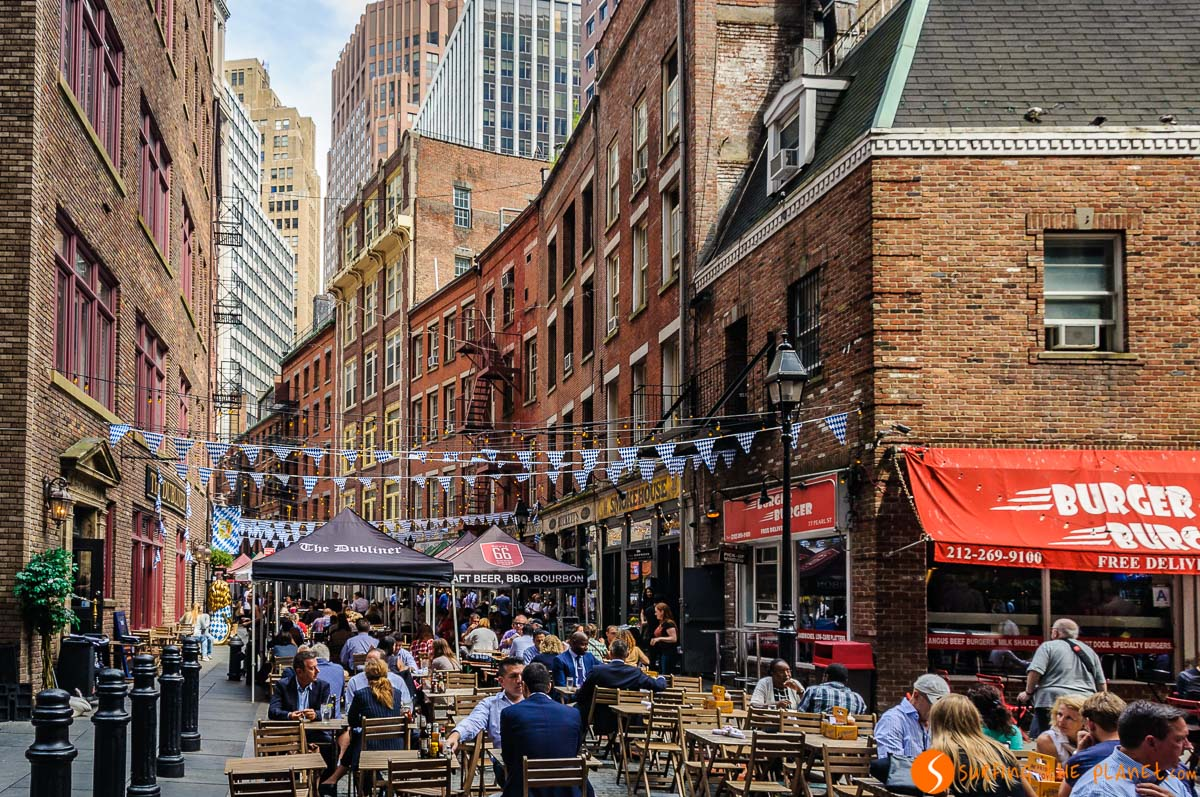 Stone Street, Lower Manhattan, Nueva York, Estados Unidos