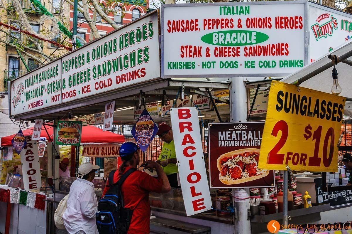 Comida, Fiesta San Gennaro, Little Italy, Nueva York, Estados Unidos | Qué ver y hacer en Little Italy y China Town