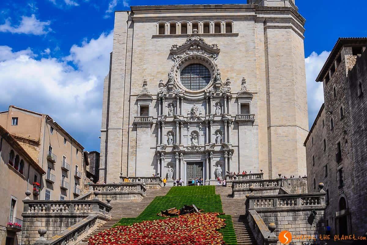 Escalera de La Catedral, Girona, Cataluña, España | Qué ver en Girona en 1 día