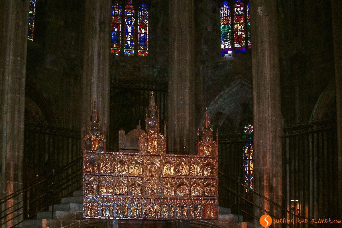 Interior de Catedral de Santa María, Girona, Cataluña, España