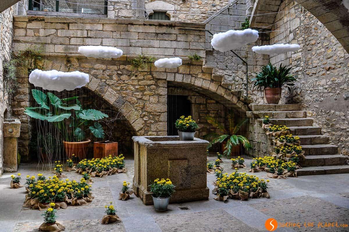 Patio, El Call, Girona, Cataluña, España | Qué visitar en Girona en 1 día