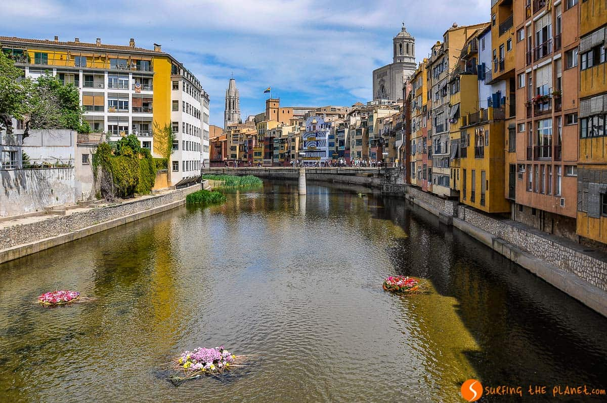 Puentes, Río Onyar, Girona, Cataluña, España