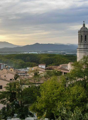 Vista desde Muralla, Girona, Cataluña, España