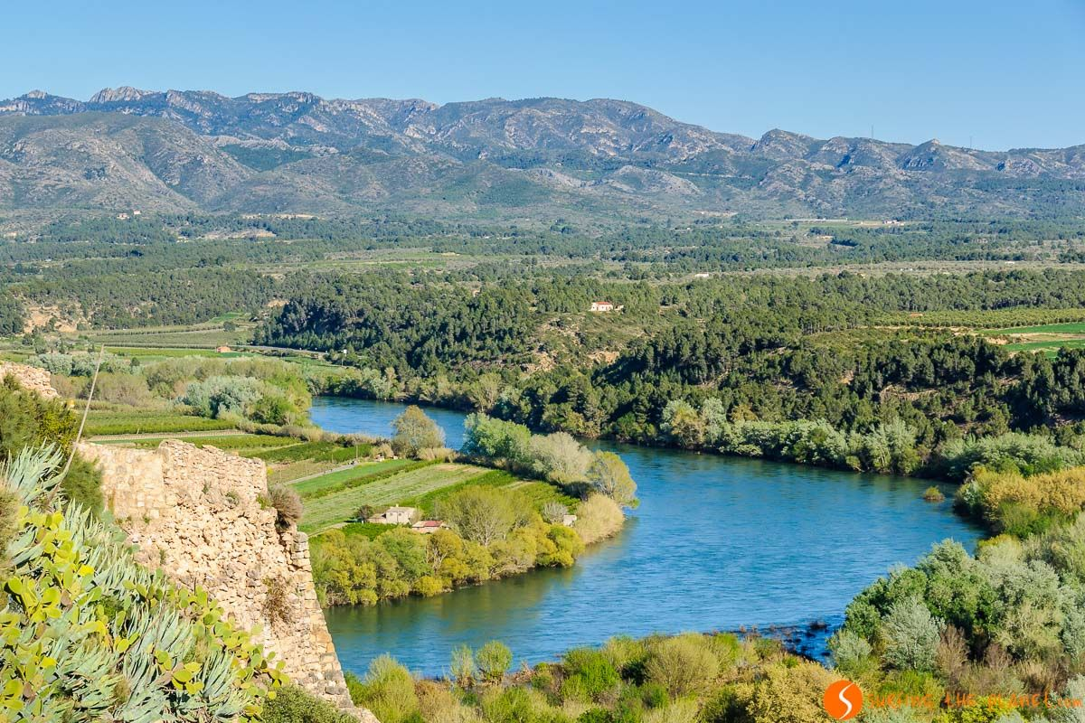 Vistas del Ebro desde el Castillo de Miravet, Tarragona, Cataluña | Qué visitar en la Costa Dorada