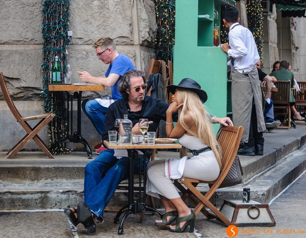 Ambiente terraza, Tribeca, Nueva York, Estados Unidos