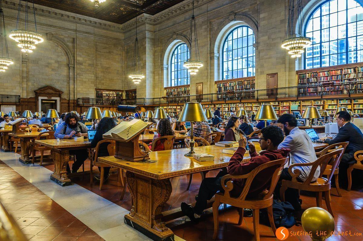 Rose Mean Reading Room, Biblioteca Pública, Midtown, Nueva York, Estados Unidos