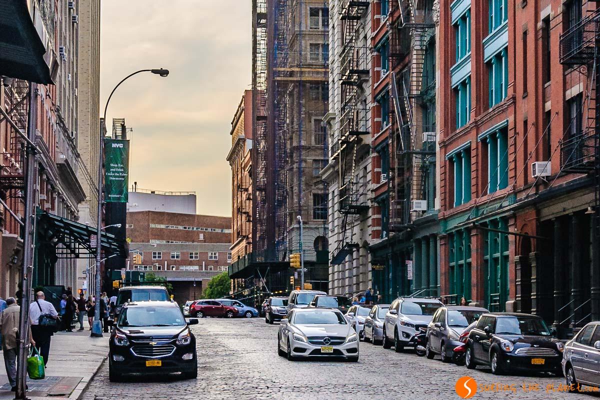 Calle auténtica, Tribeca, Nueva York, Estados Unidos