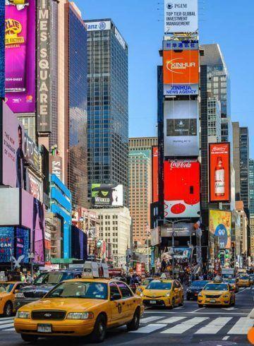 Times Squaredurante el día, Midtown, Nueva York, Estados Unidos
