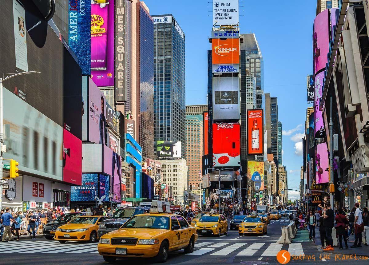 Times Squaredurante el día, Midtown, Nueva York, Estados Unidos | 100 Cosas que ver y hacer en Nueva York