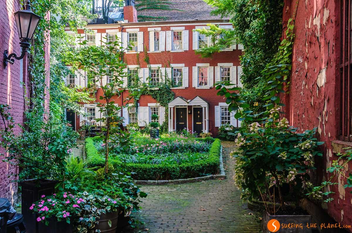 Grove Court, Greenwich Village, The Village, Nueva York, Estados Unidos