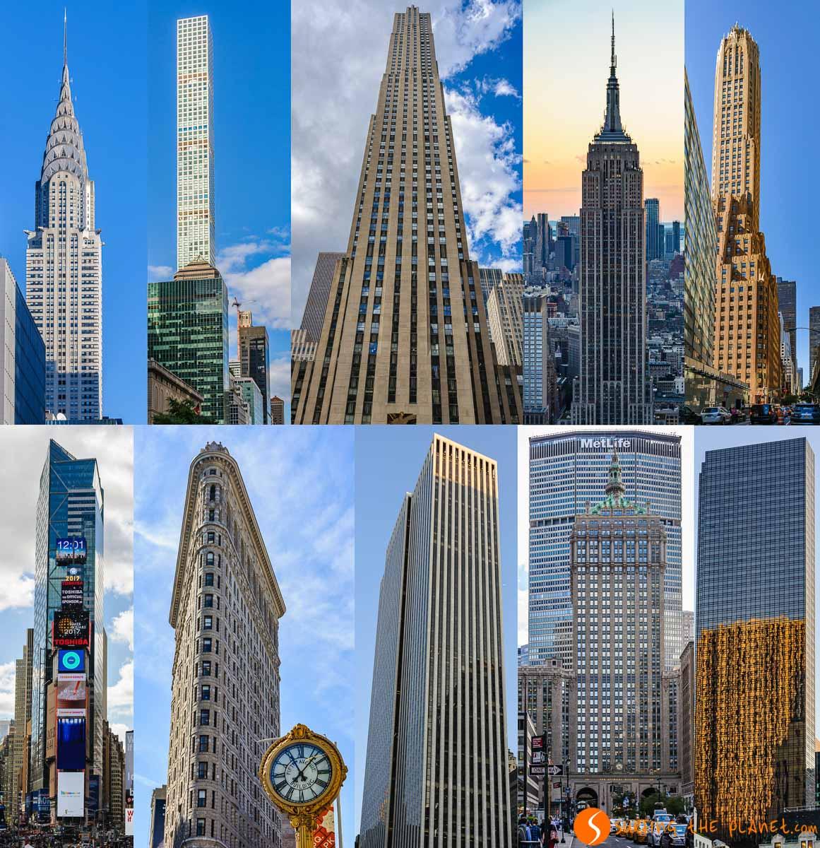 Rascacielos en Midtown, Nueva York, Estados Unidos