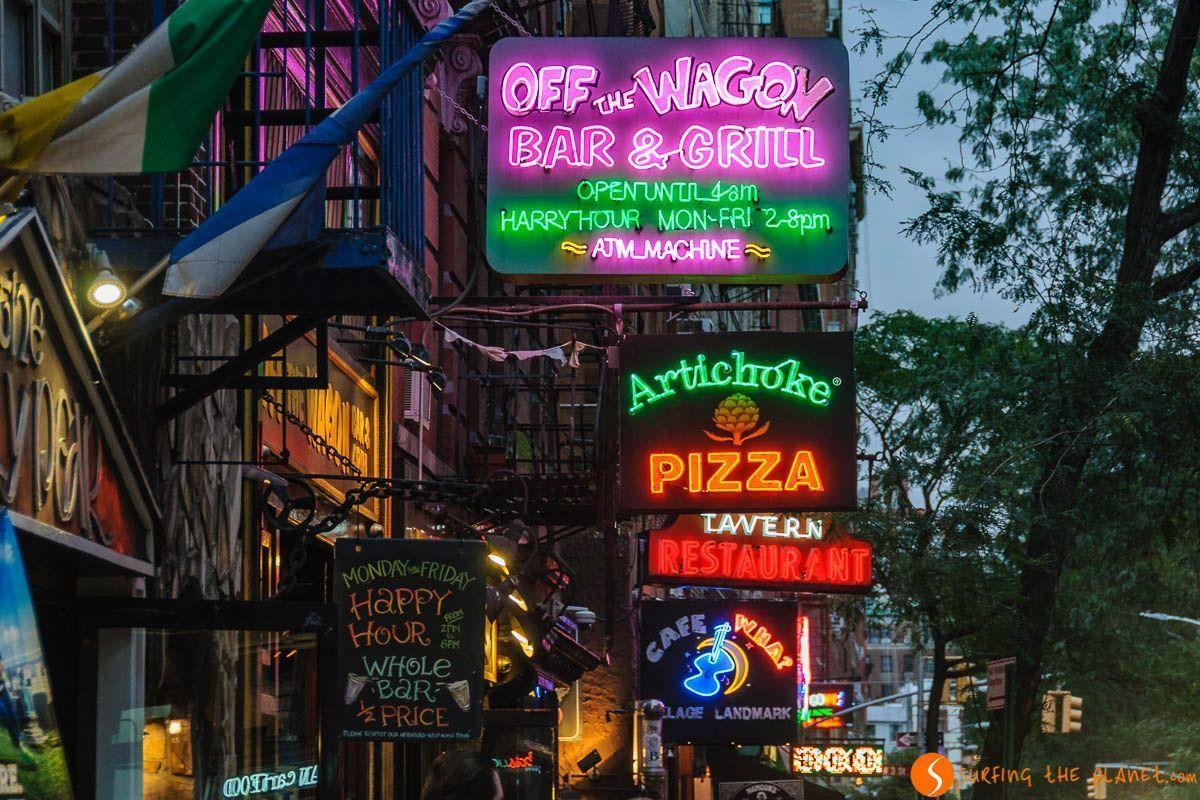 Letreros, West Village, Nueva York, Estados Unidos