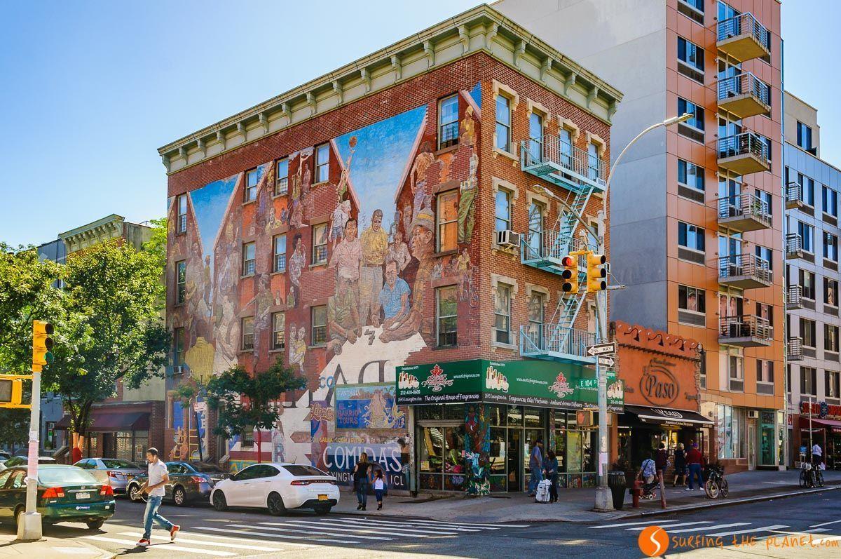 Graffiti de Espíritu de East Harlem, Manhattan, Nueva York, Estados Unidos