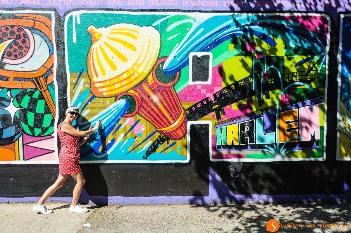 Graffiti de Harlem, Manhattan, Nueva York, Estados Unidos