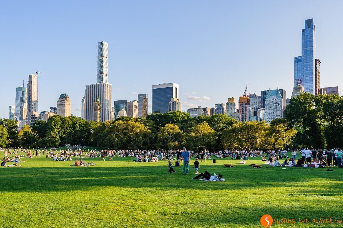 Sheep Meadow, Central Park, Nueva York, Estados Unidos | Qué ver en el Central Park de Manhattan en 1 día