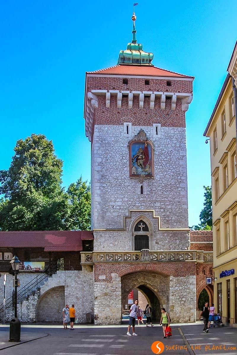 Puerta Florián, Cracovia, Polonia