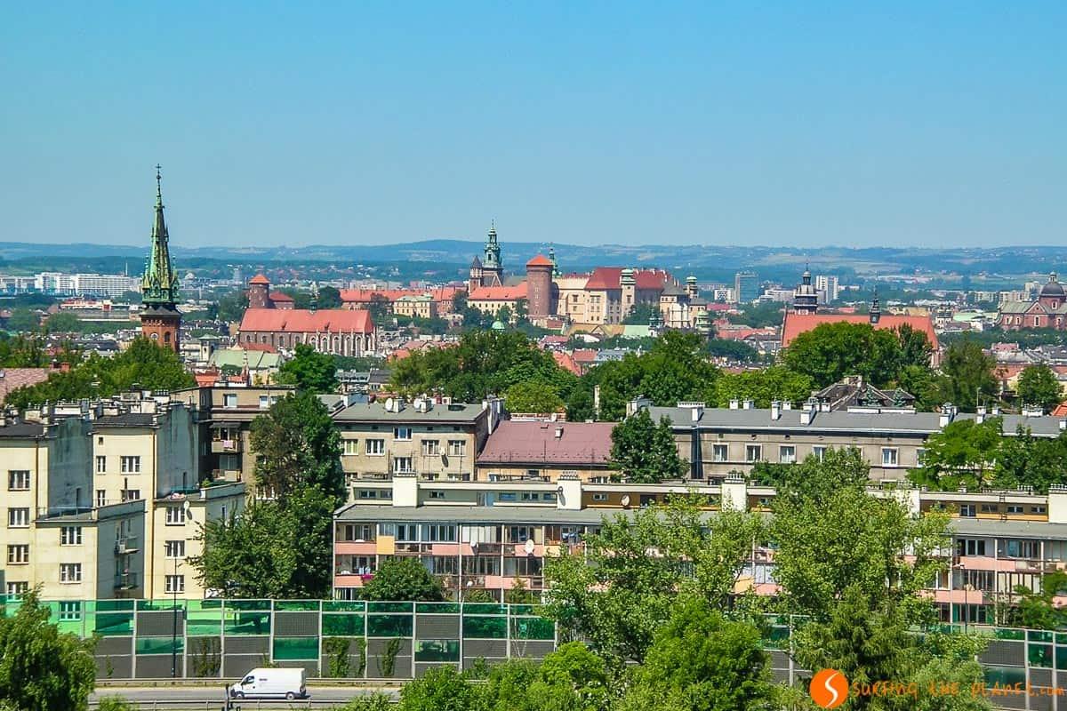 Vistas desde el Montículo Kraus, Cracovia, Polonia