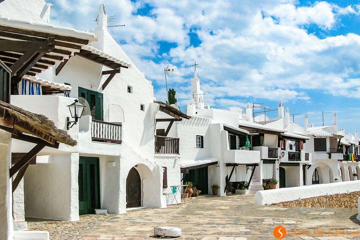 Casas blancas, Binibequer Vell, Menorca, España