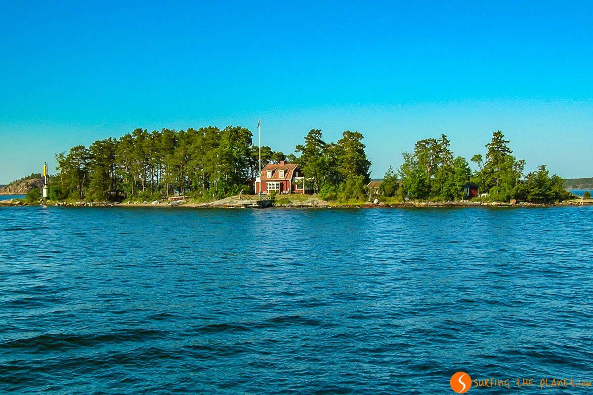 Casita en el Archipiélago de Estocolmo, Suecia