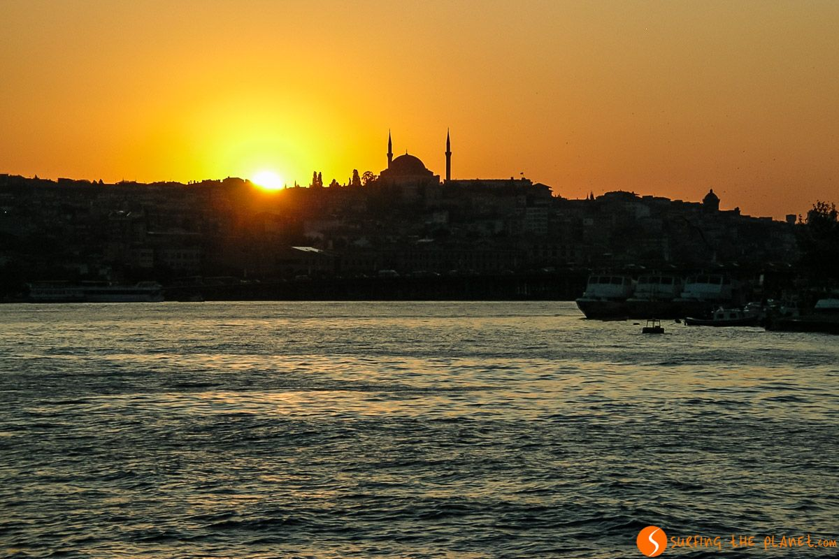 Atardecer, Estambul, Turquía