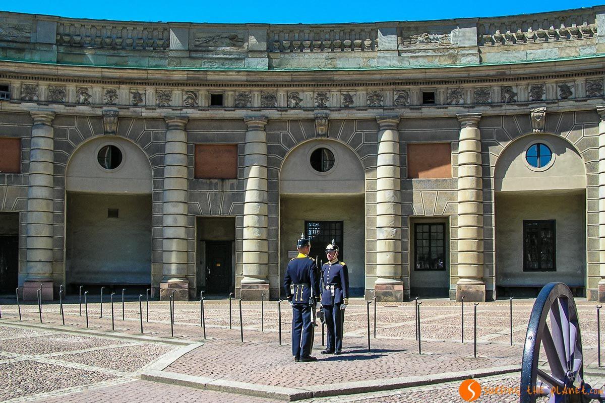 Cambio de Guardia, Palacio Real, Estocolmo, Suecia