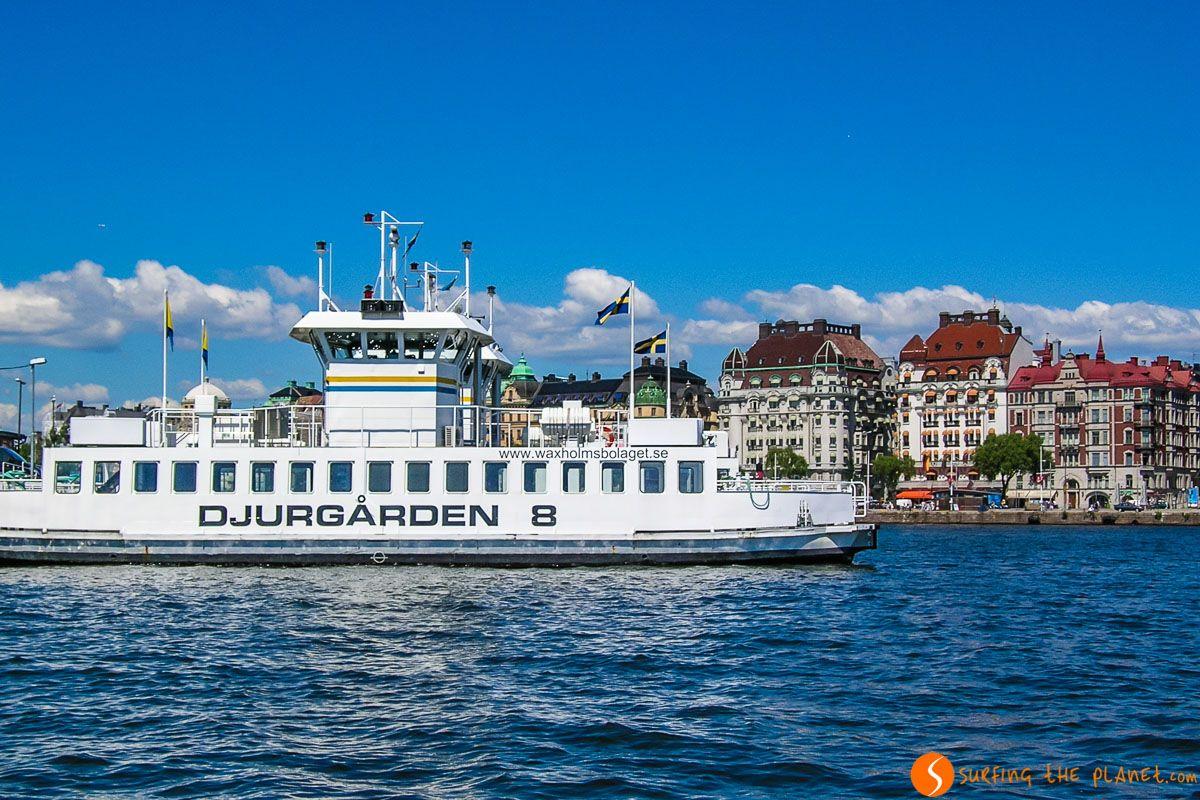 Excursión en barco, Estocolmo, Suecia