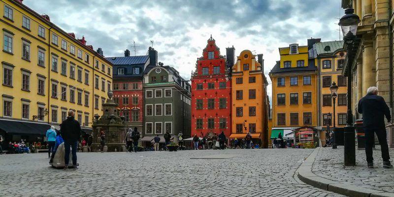 Plaza Stortoget, Barrio Gamla Stan, Estocolmo, Suecia