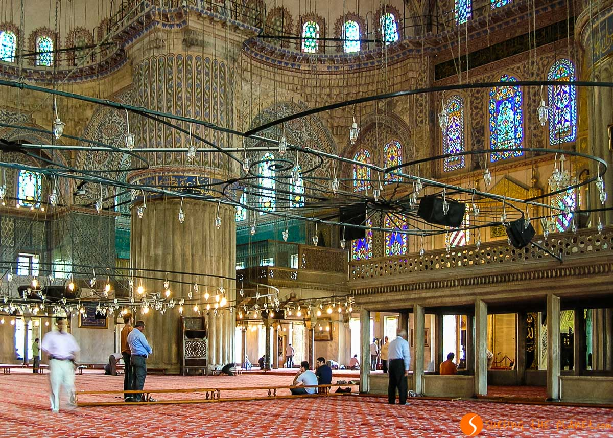 Interior de la Mezquita Azul, Estambul, Turquía | Qué ver y hacer en Estambul en 3 días
