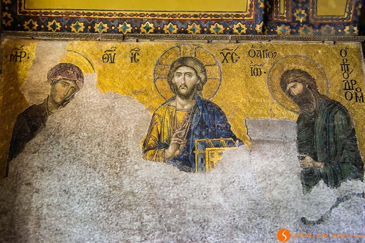 Mosaicos en el interior de Santa Sofía, Estambul, Turquía | Qué hacer en Estambul